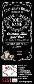 Stag king stag party tickets bachelor party invitations for Jack and jill ticket templates